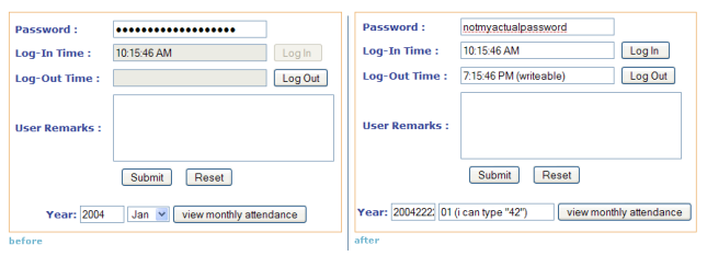 Before and after shots - using our online timesheet